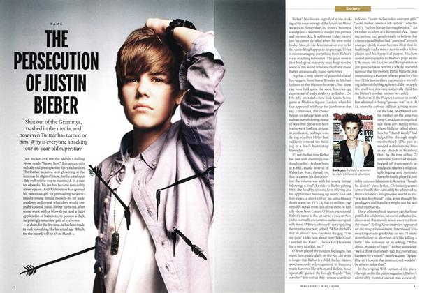 Article Preview: THE PERSECUTION OFJUSTIN BIEBER, MARCH 7,2011 2011 | Maclean's