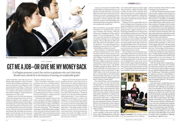 Article Preview: GET ME A JOB-OR GIVE ME MY MONEY BACK, MARCH 7th 2011 | Maclean's