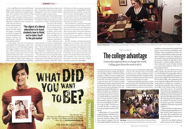 Article Preview: The college advantage, MARCH 7th 2011 | Maclean's