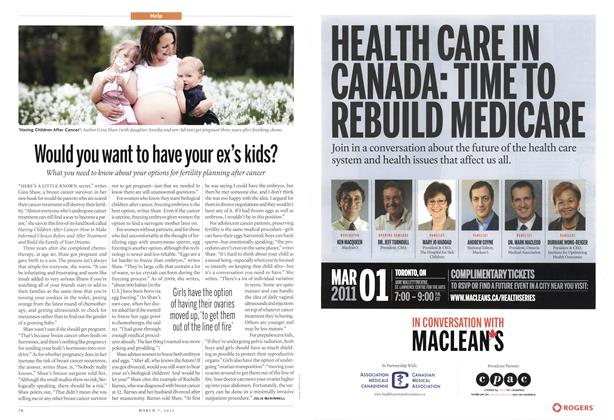 Article Preview: Would you want to have your ex's kids?, MARCH 7th 2011 | Maclean's