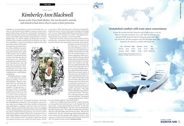 Article Preview: 1958-2011 Kimberley Ann Blackwell, MARCH 7th 2011 | Maclean's