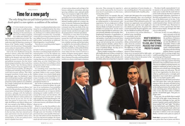 Article Preview: Time for a new party, March 2011 | Maclean's