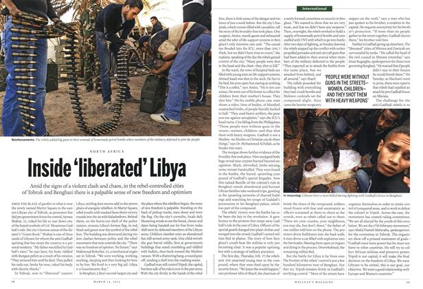 Article Preview: Inside 'liberated' Libya, March 2011 | Maclean's