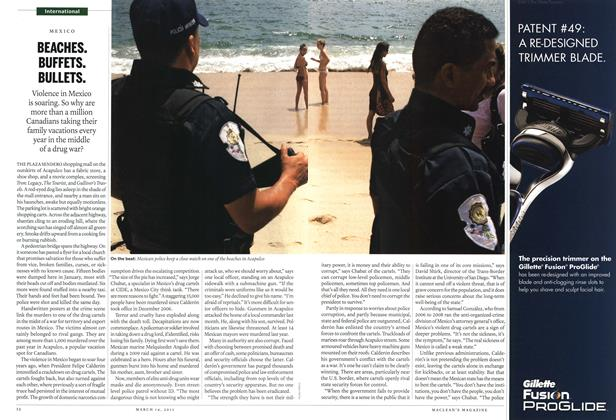 Article Preview: BEACHES. BUFFETS. BULLETS., March 2011 | Maclean's