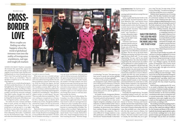 Article Preview: CROSS-BORDER LOVE, March 2011 | Maclean's