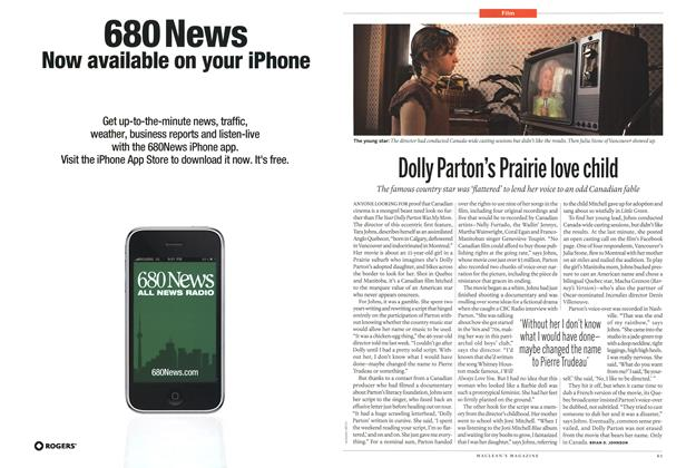 Article Preview: Dolly Parton's Prairie love child, March 2011 | Maclean's