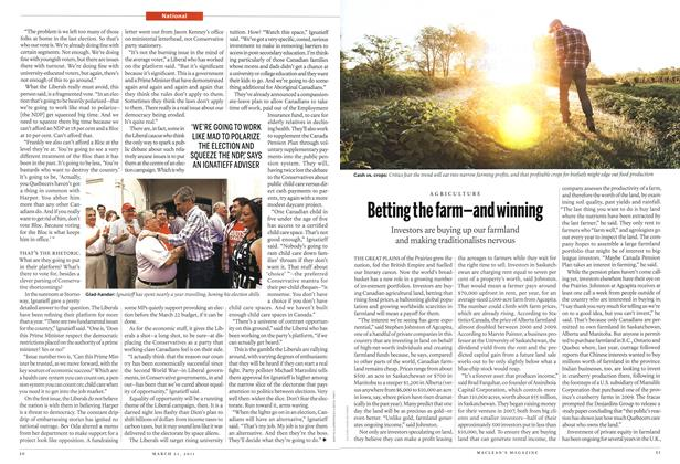 Article Preview: Betting the farm-and winning, March 2011 | Maclean's