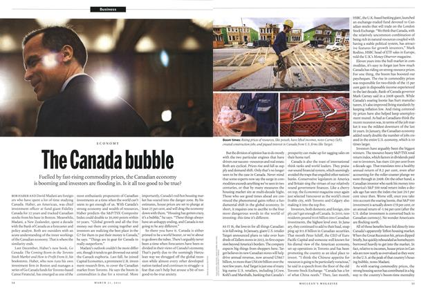 Article Preview: The Canada bubble, March 2011 | Maclean's