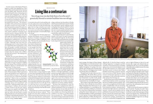 Article Preview: Living like a centenarian, March 2011 | Maclean's