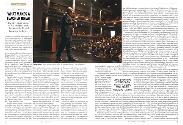 Article Preview: WHAT MAKES A TEACHER GREAT, March 2011 | Maclean's