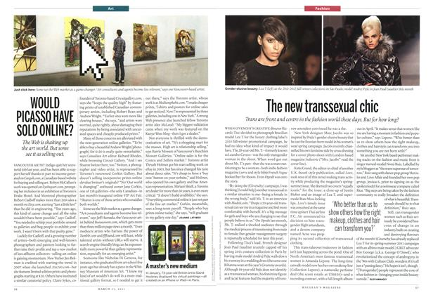 Article Preview: WOULD PICASSO HAVE SOLD ONLINE?, March 2011 | Maclean's