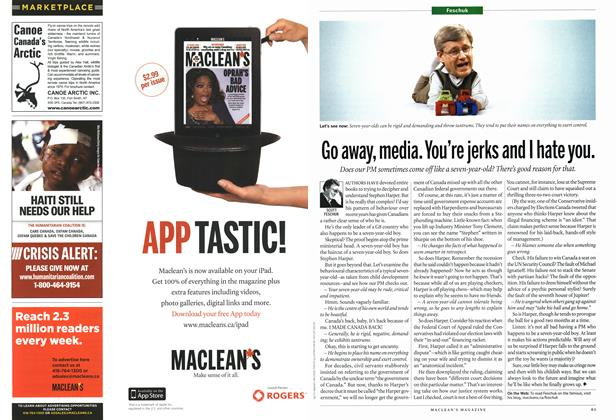 Article Preview: Go away, media. You're jerks and I hate you., March 2011 | Maclean's