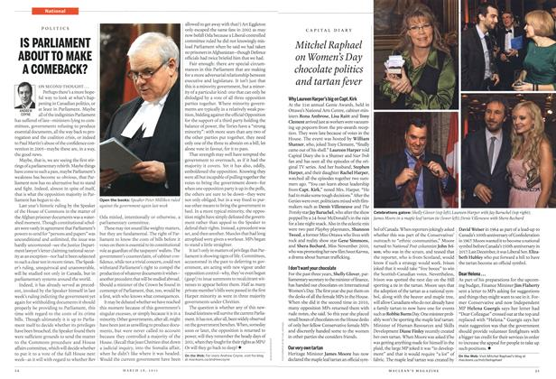 Article Preview: IS PARLIAMENT ABOUT TO MAKE A COMEBACK?, March 2011 | Maclean's