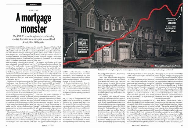 Article Preview: A mortgage monster, March 2011 | Maclean's