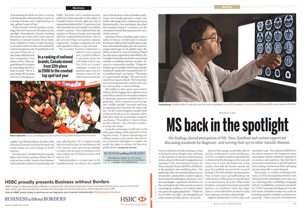 Article Preview: MS back in the spotlight, March 2011 | Maclean's