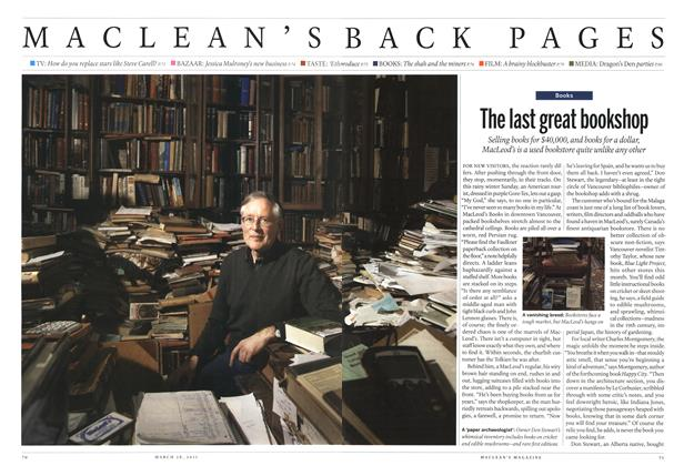 Article Preview: The last great bookshop, March 2011 | Maclean's