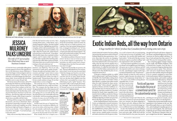 Article Preview: JESSICA MULRONEY TALKS LINGERIE, March 2011 | Maclean's