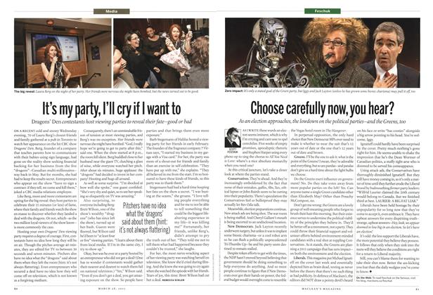 Article Preview: Choose carefully now, you hear?, March 2011 | Maclean's