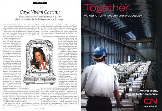 Article Preview: 1947-2011 Cayle Vivian Chernin, March 2011 | Maclean's