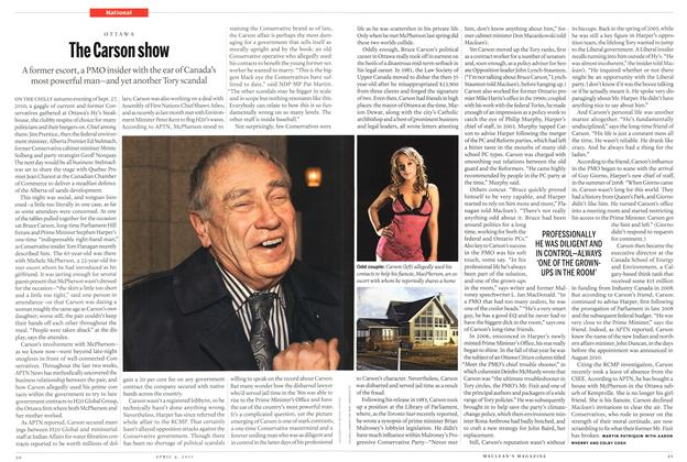 Article Preview: The Carson show, April 2011 | Maclean's