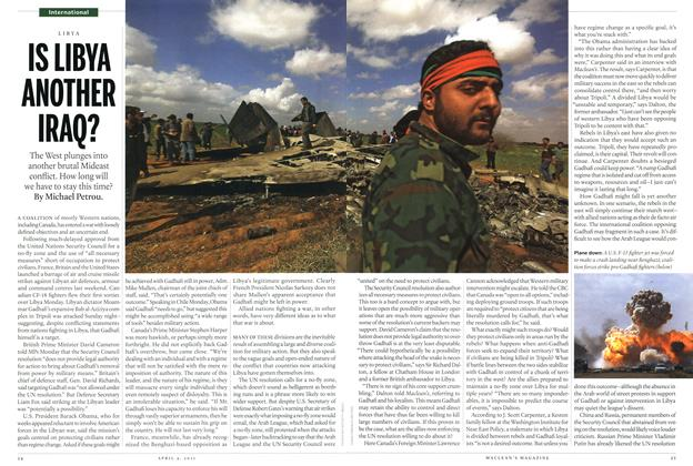 Article Preview: IS LIBYA ANOTHER IRAQ?, April 2011 | Maclean's