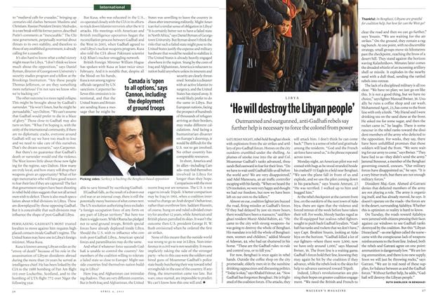 Article Preview: 'He will destroy the Libyan people', April 2011 | Maclean's