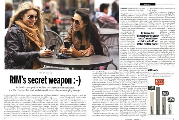 Article Preview: RIM's secret weapon :-), April 2011 | Maclean's