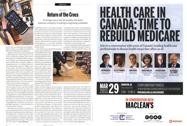 Article Preview: Return of the Crocs, April 2011 | Maclean's