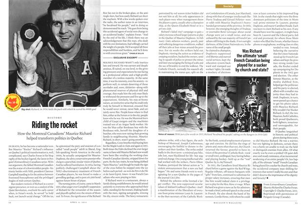 Article Preview: Riding the rocket, April 2011 | Maclean's