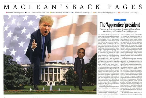 Article Preview: The 'Apprentice' president, April 2011 | Maclean's