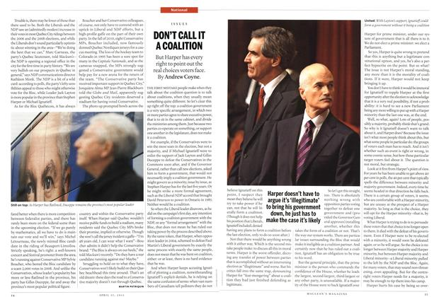 Article Preview: DON'T CALL IT A COALITION, April 2011 | Maclean's