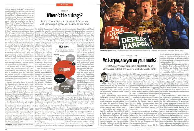 Article Preview: Mr. Harper, are you on your meds?, April 2011 | Maclean's