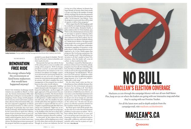 Article Preview: RENOVATION FREE RIDE, April 2011 | Maclean's
