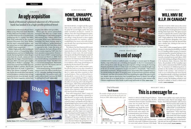 Article Preview: This is a message for..., April 2011 | Maclean's
