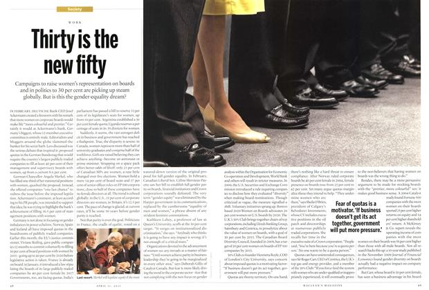 Article Preview: Thirty is the new fifty, April 2011 | Maclean's