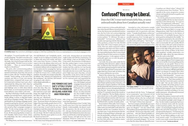Article Preview: Confused? You may be Liberal., April 2011 | Maclean's