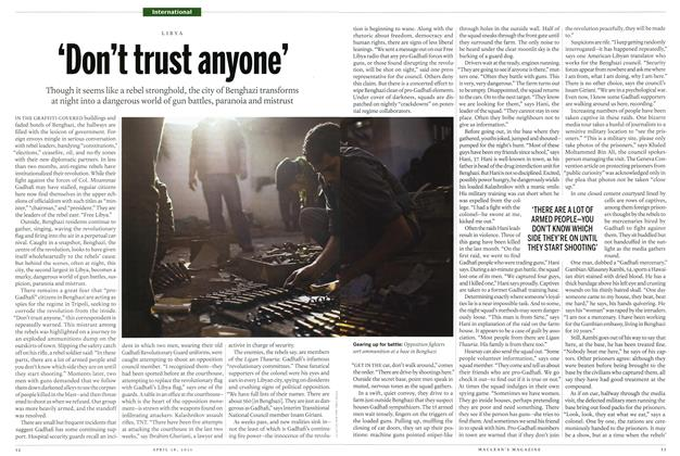 Article Preview: 'Don't trust anyone', April 2011 | Maclean's