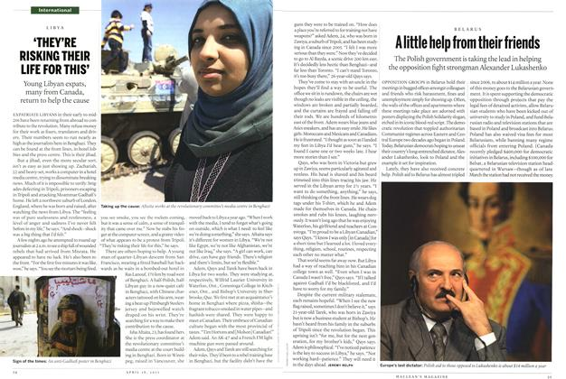 Article Preview: A little help from their friends, April 2011 | Maclean's