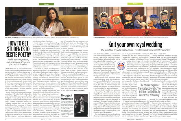 Article Preview: Knit your own royal wedding, April 2011 | Maclean's