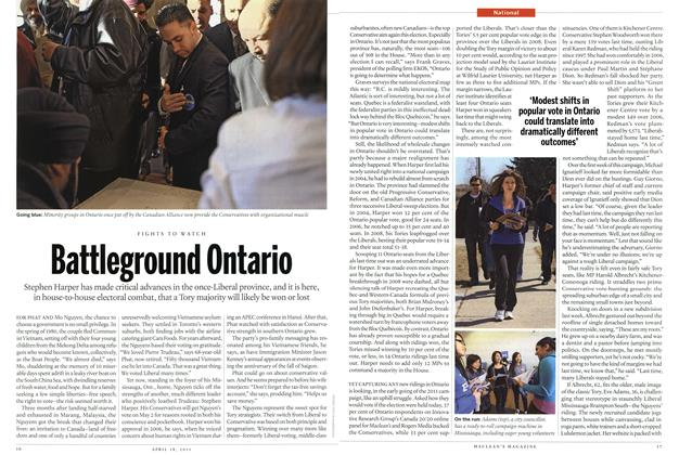 Article Preview: Battleground Ontario, April 2011 | Maclean's
