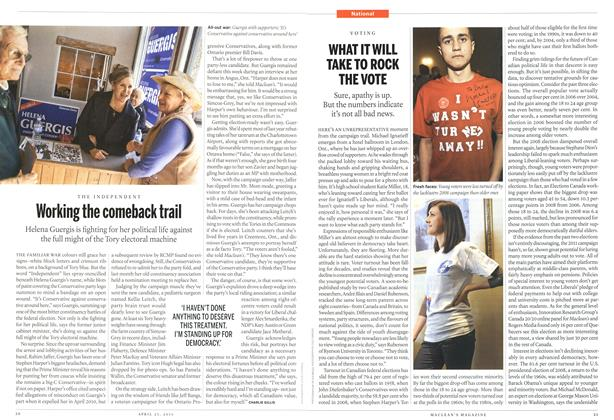 Article Preview: Working the comeback trail, April 2011 | Maclean's