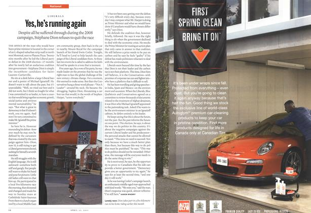 Article Preview: Yes, he's running again, April 2011 | Maclean's