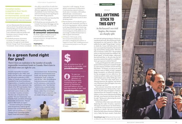 Article Preview: WILL ANYTHING STICK TO THIS GUY?, April 2011 | Maclean's