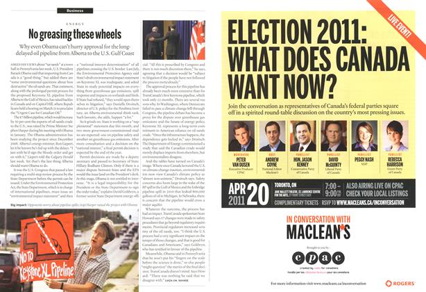 Article Preview: No greasing these wheels, April 2011 | Maclean's