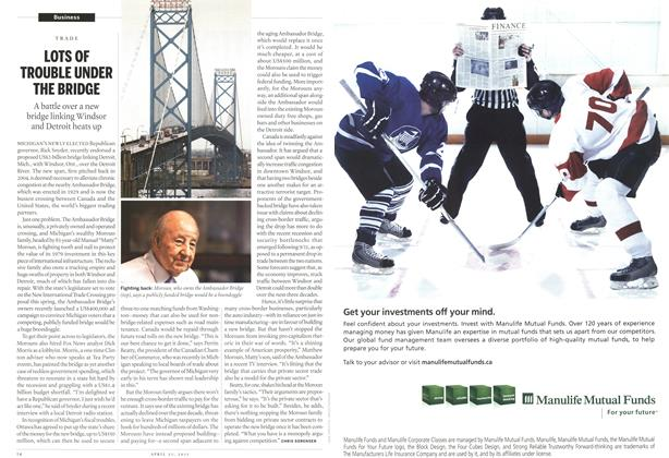 Article Preview: LOTS OF TROUBLE UNDER THE BRIDGE, April 2011 | Maclean's