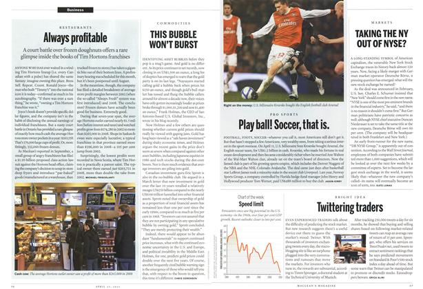 Article Preview: Play ball! Soccer, that is., April 2011 | Maclean's