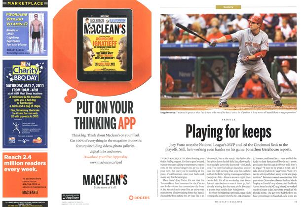 Article Preview: Playing for keeps, April 2011 | Maclean's