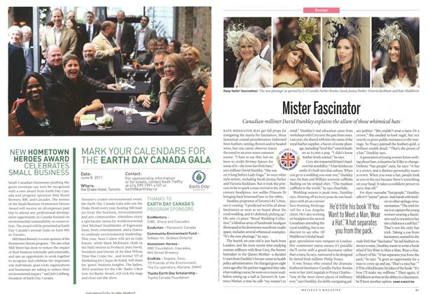 Article Preview: Mister Fascinator, April 2011 | Maclean's