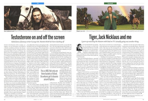 Article Preview: Testosterone on and off the screen, April 2011 | Maclean's
