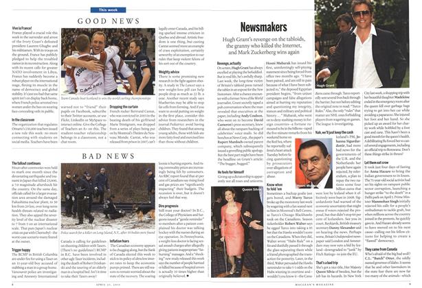 Article Preview: Newsmakers, April 2011 | Maclean's